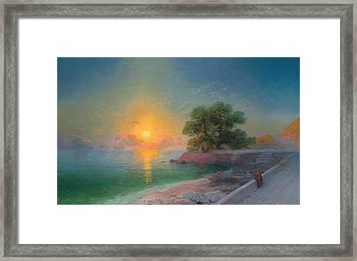 Promenade At Sunset Framed Print by Ivan Konstantinovich Aivazovsky