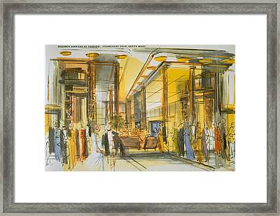 Promenade Deck Aboard The Queen Mary Framed Print by English School