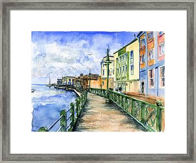 Promenade In Barbados Framed Print by John D Benson