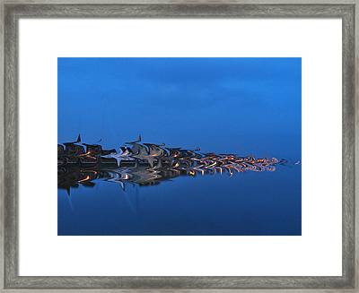 Promenade In Blue  Framed Print