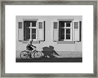 Promenade Of A Shadow Framed Print