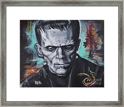 Prometheus Plus Embryo Plus Death By Musket Framed Print by Mark Blome
