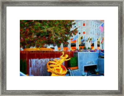 Prometheus Under The Tree Framed Print by Allen Beatty