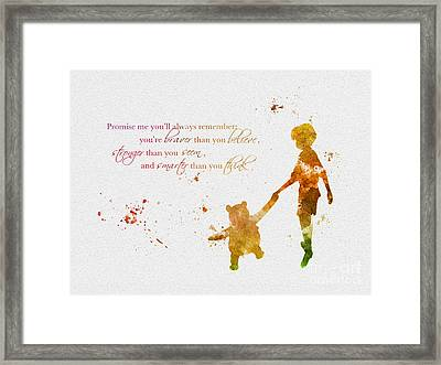 Promise Me You'll Always Remember Framed Print