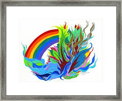 Framed Print featuring the photograph Promise Of Life Everlasting by Lula Adams