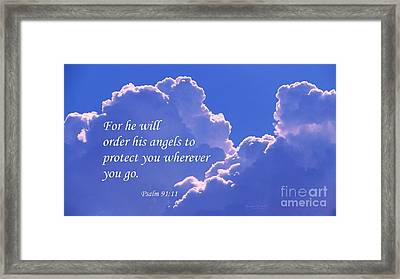 Promise Of Protection Framed Print