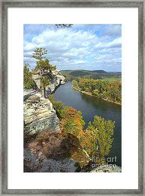 Framed Print featuring the photograph Promontory Point by Jim McCain