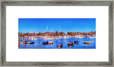 Framed Print featuring the photograph Promontory Point - Newport Beach by Jim Carrell