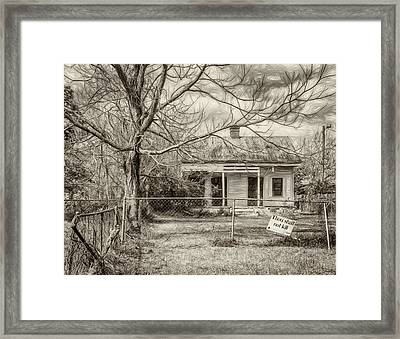 Promoting The Obvious - Paint Bw Framed Print by Steve Harrington
