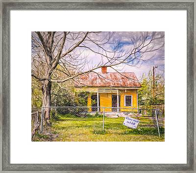 Promoting The Obvious - Paint Sketch Framed Print by Steve Harrington