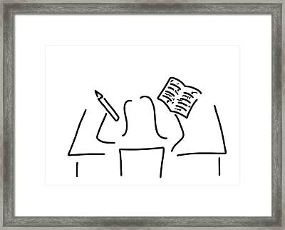 Proofreader Assistant Correct Framed Print by Lineamentum