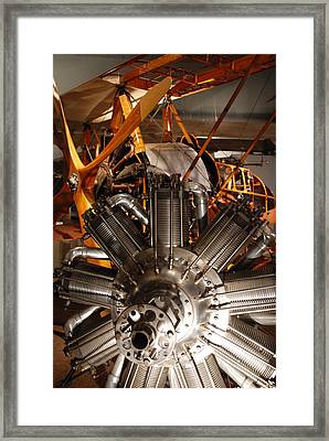 Prop Plane Engine Illuminated Framed Print