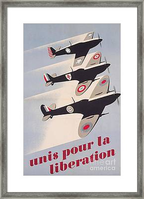 Propaganda Poster For Liberation From World War II Framed Print