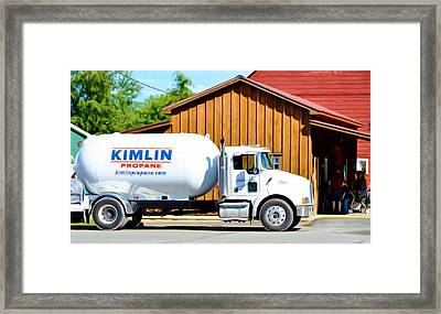 Propane Delivery Truck Framed Print by Lanjee Chee