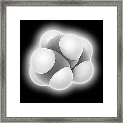 Propane Molecule Framed Print