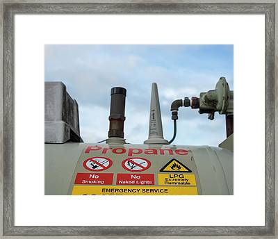 Propane Tank Framed Print by Robert Brook