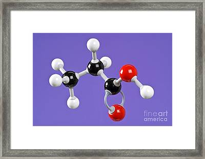 Propanoic Acid Framed Print by Martyn F. Chillmaid