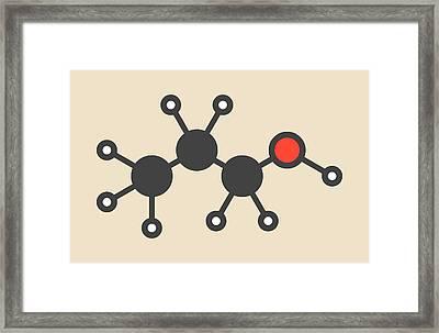 Propanol Solvent Molecule Framed Print by Molekuul