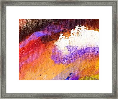 Propel Ember Red Framed Print by L J Smith