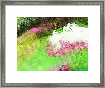 Propel Emerald Green Framed Print by L J Smith