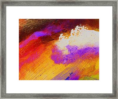 Propel Golden Framed Print by L J Smith