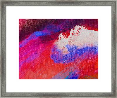 Propel Red Framed Print by L J Smith