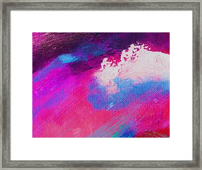Propel Scarlet Blue Framed Print by L J Smith