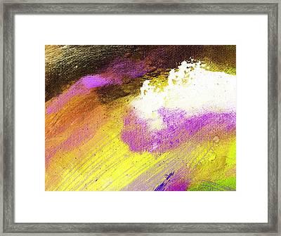 Propel Yellow Purple Framed Print by L J Smith