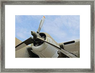 Propeller Of An Old Aircraft Framed Print by Yali Shi