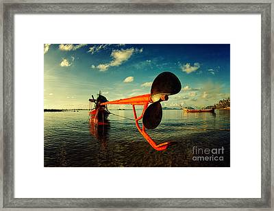 Propeller Framed Print by Stelios Kleanthous