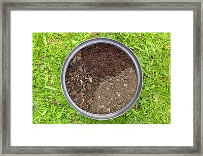 Properties Of Three Different Composts Framed Print