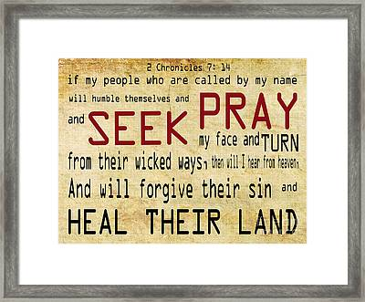 Prophetic Call  Framed Print by Beverly Guilliams