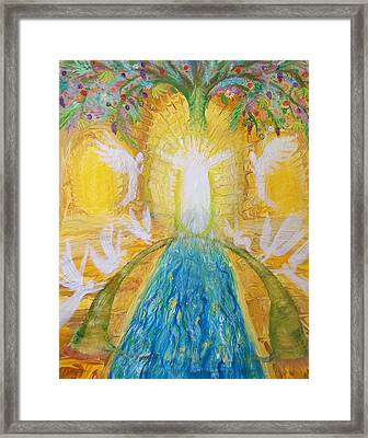 Prophetic Message Sketch 11 Two Trees Become One Tree And River Of Life Framed Print