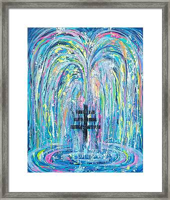 Pms 19 My Will Be Done Fountain And Triple Cross Framed Print
