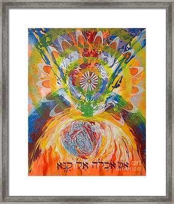 Prophetic Message Sketch Painting 5 Esh Oklah El Kanna Framed Print