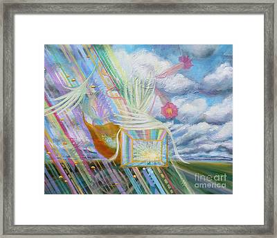Prophetic Ms 39 Praise And The Festival Of Booths/feast Of Tabernacles Framed Print by Anne Cameron Cutri