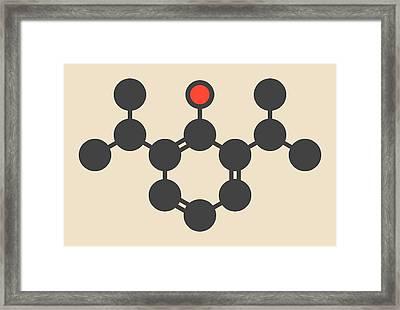 Propofol Anesthetic Drug Molecule Framed Print