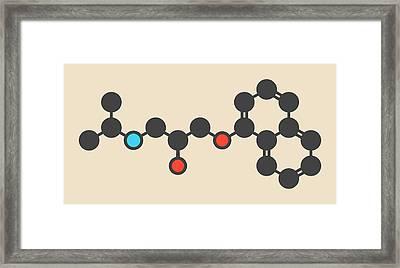 Propranolol High Pressure Drug Molecule Framed Print