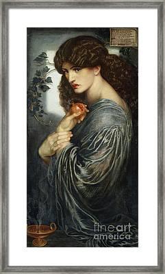 Proserpine Framed Print by Dante Charles Gabriel Rossetti