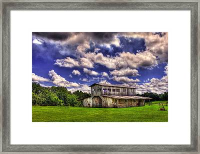 Prospect Barn In A Cloud Filled Sky  Framed Print