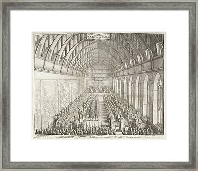 Prospect Of The Inside Of St George's Hal Framed Print by British Library