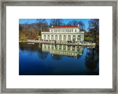Prospect Park Boathouse Framed Print by Jon Woodhams