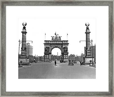 Prospect Park In Brooklyn Framed Print by Underwood Archives