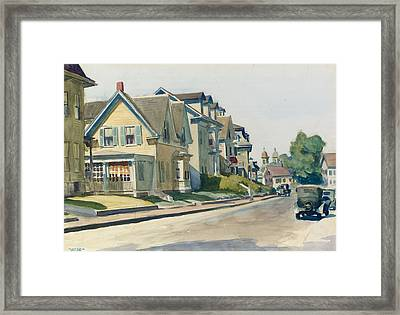 Prospect Street Framed Print by Edward Hopper