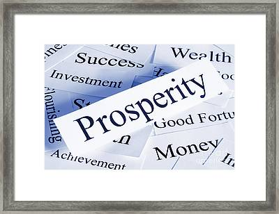 Prosperity Concept Framed Print by Colin and Linda McKie