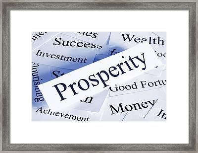 Prosperity Concept Framed Print