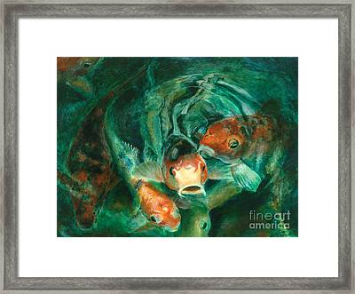 Prosperity Koi Framed Print