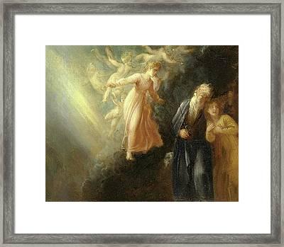 Prospero, Miranda And Ariel, From The Tempest, Act I, Scene Framed Print