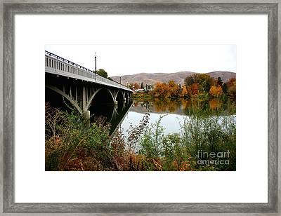 Prosser Bridge In Autumn Framed Print by Carol Groenen