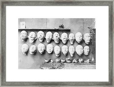 Prosthetic Masks Casts Framed Print by Library Of Congress